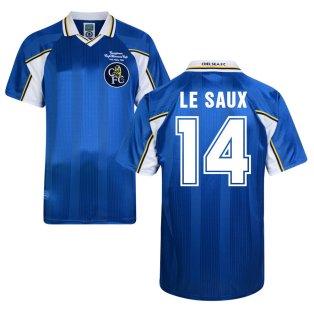 Score Draw Chelsea 1998 Home Shirt (Le Saux 14)