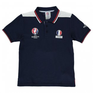 France UEFA Euro 2016 Polo Shirt (Navy) - Kids