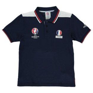 France UEFA Euro 2016 Polo Shirt (Navy) - Kids