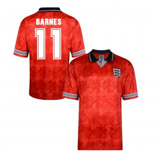 Score Draw England World Cup 1990 Away Shirt (Barnes 11)