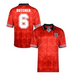 Score Draw England World Cup 1990 Away Shirt (Butcher 6)