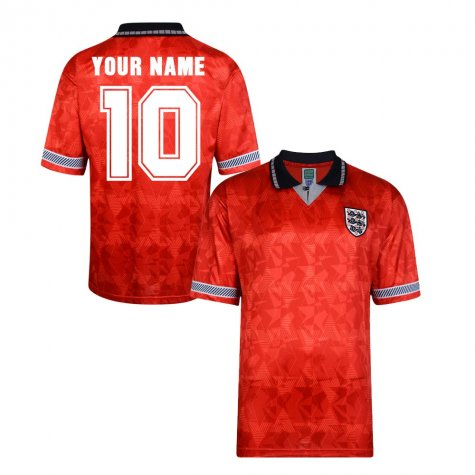Score Draw England World Cup 1990 Away Shirt (Your Name)