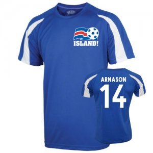 2016-17 Iceland Sports Training Jersey (Arnason 14)
