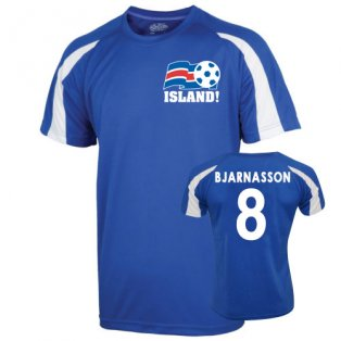 2016-17 Iceland Sports Training Jersey (Bjarnason 8)