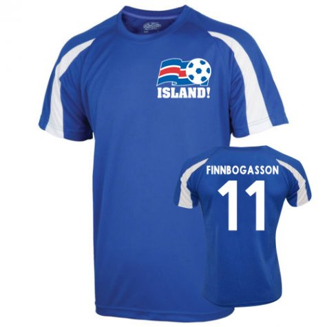 2016-17 Iceland Sports Training Jersey (Finboggasson 11)