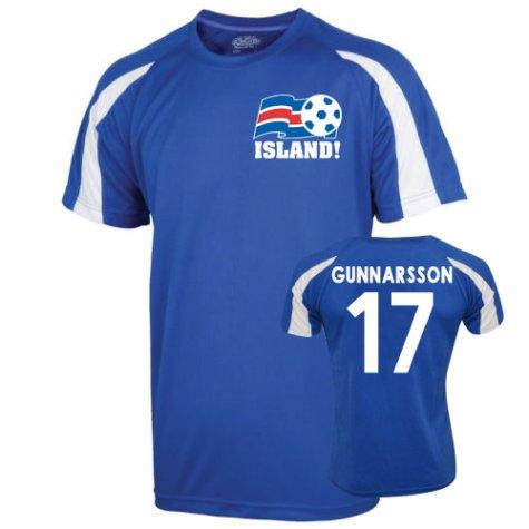 2016-17 Iceland Sports Training Jersey (Gunnarsson 17)