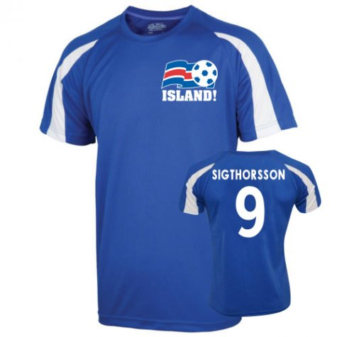 2016-17 Iceland Sports Training Jersey (Sigthorsson 9)