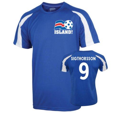 2016-17 Iceland Sports Training Jersey (Sigthorsson 9) - Kids