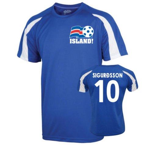2016-17 Iceland Sports Training Jersey (Sigurdsson 10)