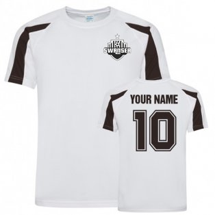 Your Name Swansea City Sports Training Jersey (White)