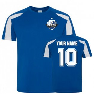 Your Name St Johnstone Sports Training Jersey (Blue)
