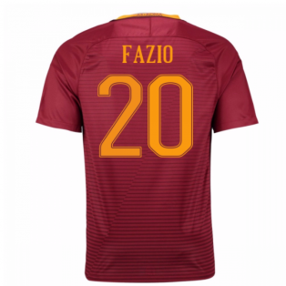2016-17 Roma Home Shirt (Fazio 20) - Kids
