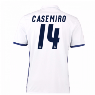 2016-17 Real Madrid Home Shirt (Casemiro 14) - Kids