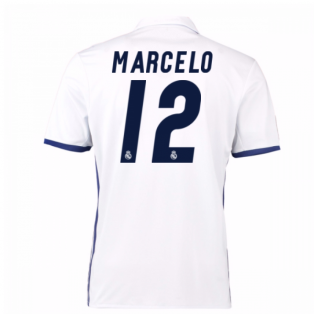 2016-17 Real Madrid Home Shirt (Marcelo 12) - Kids