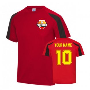 Your Name Partick Thistle Sports Training Jersey-(Red)