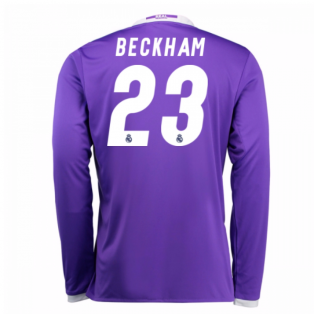 2016-17 Real Madrid Away Shirt (Beckham 23) - Kids