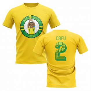 Cafu Brazil Illustration T-Shirt (Yellow)