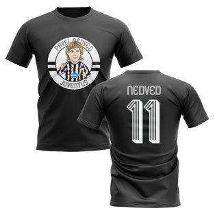 Pavel Nedved Juventus Illustration T-Shirt (Black)
