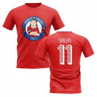 Marcelo Salas Chile Illustration T-Shirt (Red)
