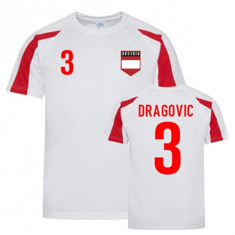 Aleksandar Dragovic Austria Sports Training Jersey (White-Red)