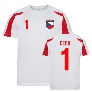 Petr Cech Czech Republic Sports Training Jersey (White-Red)