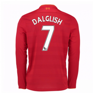 2016-17 Liverpool Home Long Sleeve Shirt (Dalglish 7) - Kids
