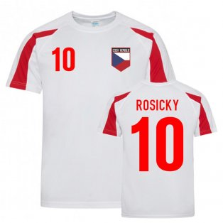 Tomas Rosicky Czech Republic Sports Training Jersey (White-Red)