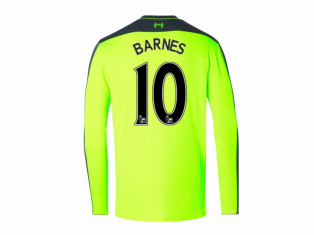 2016-17 Liverpool Third Long Sleeve Shirt (Barnes 10) - Kids