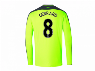 2016-17 Liverpool Third Long Sleeve Shirt (Gerrard 8) - Kids