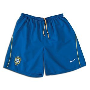 08-09 Brazil home shorts - Kids