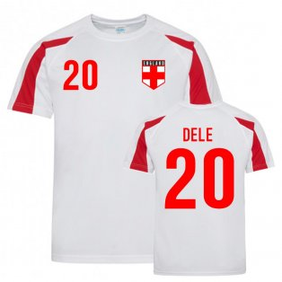 Dele Alli England Sports Training Jersey (White-Red)