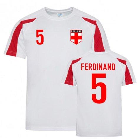Rio Ferdinand England Sports Training Jersey (White-Red)