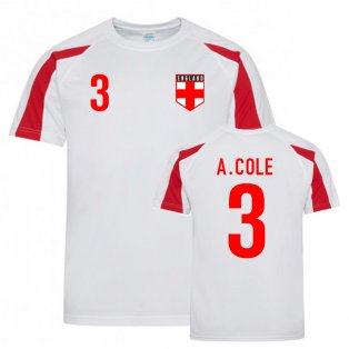 Ashley Cole England Sports Training Jersey (White-Red)