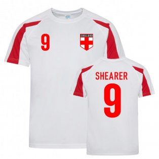 Alan Shearer England Sports Training Jersey (White-Red)