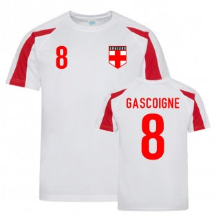 Paul Gascoigne England Sports Training Jersey (White-Red)