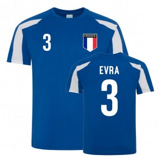 Patrice Evra France Sports Training Jersey (Blue-White)