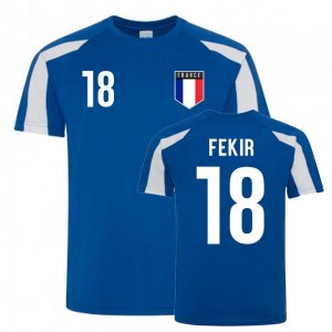 Nabil Fekir France Sports Training Jersey (Blue-White)