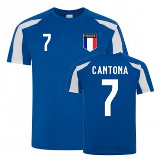 Eric Cantona France Sports Training Jersey (Blue-White)