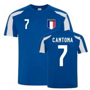 Eric Cantona France Sports Training Jersey (Blue-White)