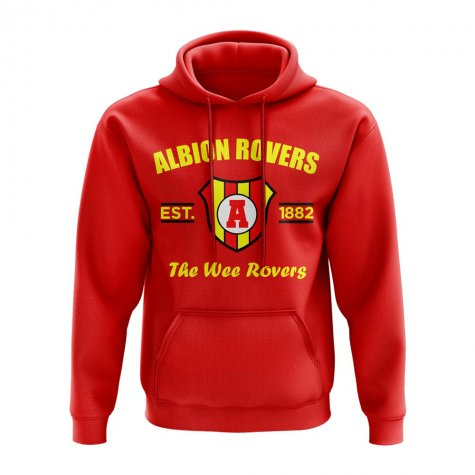 Albion Rovers Established Hoody (Red)