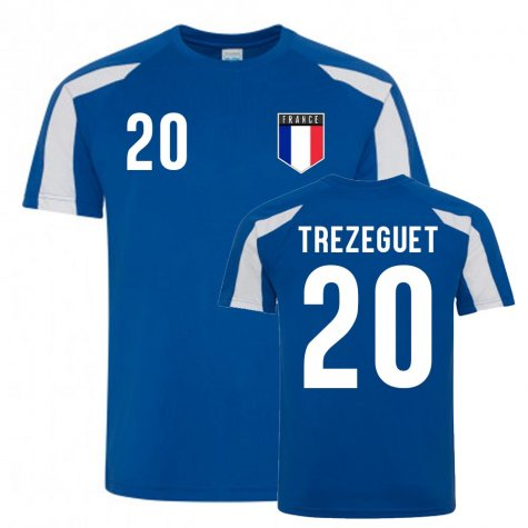 David Trezeguet France Sports Training Jersey (Blue-White)