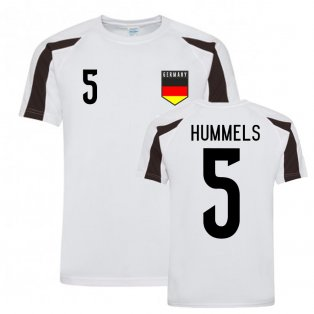 Mats Hummels Germany Sports Training Jersey (White-Black)