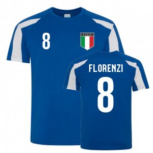 Alessandro Florenzi Italy Sports Training Jersey (Blue-White)