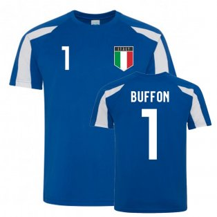 Gianluigi Buffon Italy Sports Training Jersey (Blue-White)
