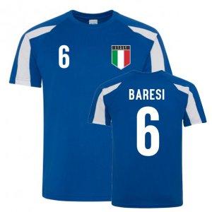 Franco Baresi Italy Sports Training Jersey (Blue-White)