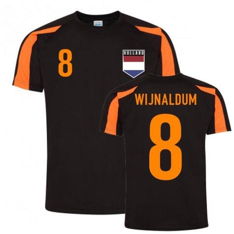 Georginio Wijnaldum Holland Sports Training Jersey (Black-Orange)