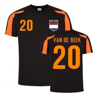 Donny Van de Beek Holland Sports Training Jersey (Black-Orange)