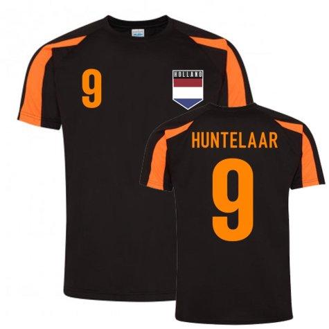 Klass-Jan Huntelaar Holland Sports Training Jersey (Black-Orange)