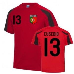 Eusebio Portugal Sports Training Jersey (Red-Black)