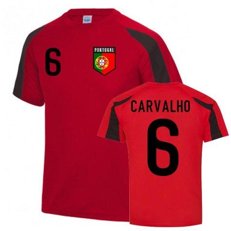 Ricardo Carvalho Portugal Sports Training Jersey (Red-Black)